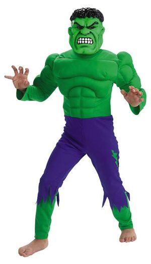 Hulk Muscle Chest Kids Costume