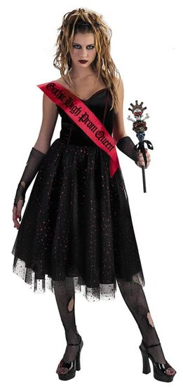 Gothic High Prom Queen Adult Costume