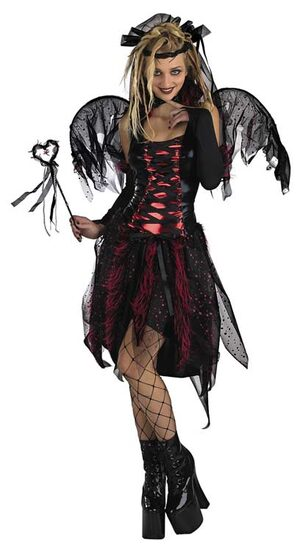 Adult Gothic Vampire Dark Fairy Costume