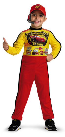 Disney Lightning McQueen Pit Crew Toddler Costume
