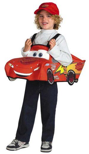 Disney Lightning McQueen 3D Deluxe Toddler Costume