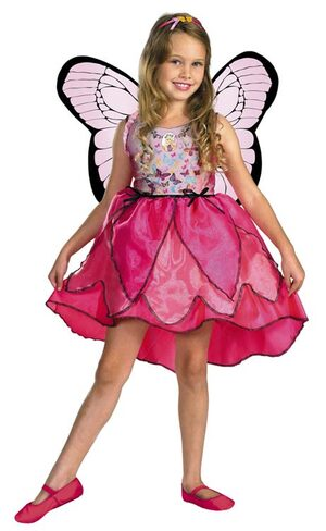 Kids Deluxe Barbie Mariposa Toddler Butterfly Costume