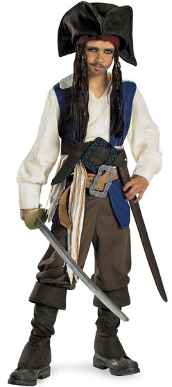 Kids Captain Jack Sparrow Deluxe Pirates of the Caribbean Costume