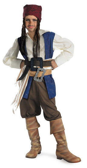 Captain Jack Sparrow Quality Kids Pirates of Caribbean Costume