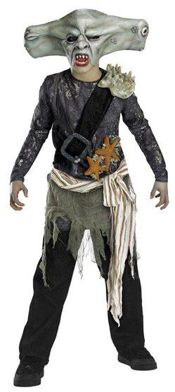 Kids Maccus Sharkman Pirates of the Caribbean Costume