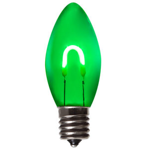 C9 Green LED Light Bulbs