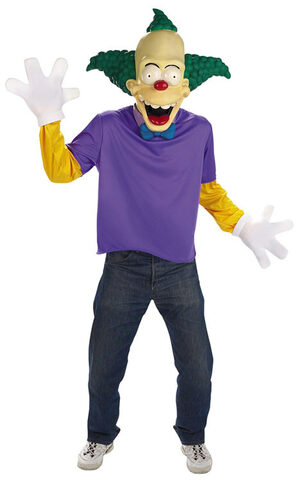 Adult Mens Krusty The Clown Costume