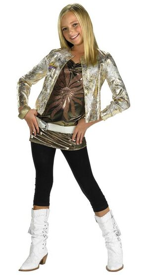 Hannah Montana Kids Costume with Gold Jacket