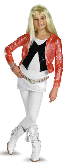 Hannah Montana Kids Costume with Pink Jacket And Wig