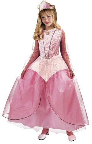 Disney Sleeping Beauty Princess Aurora Prestige Kids Costume