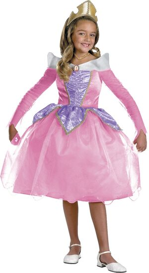 Disney Sleeping Beauty Aurora Deluxe Kids Costume