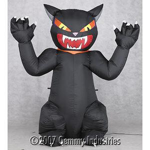 4 Foot Airblown Outdoor Screaming Black Cat