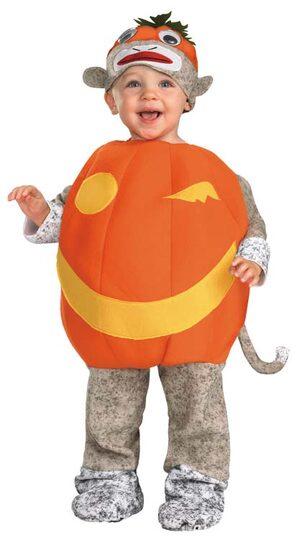 Sock Monkey Pumpkin Baby Costume