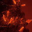 70 M5 Amber LED Halloween Lights on Green Wire