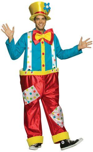 Mens Adult Clown Costume