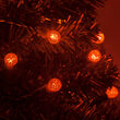 70 G12 Amber LED Halloween Lights on Green Wire