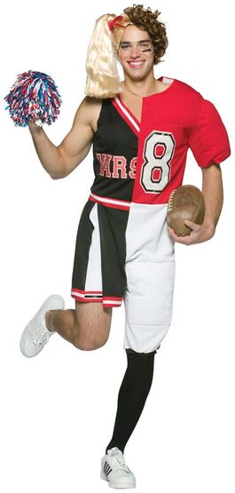 Dual Cheerleader Football Adult Costume