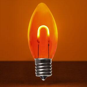 C9 Amber / Orange LED Light Bulbs