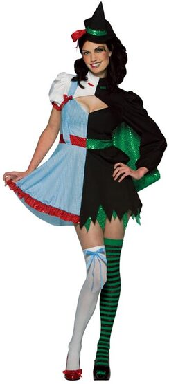 Dual Farm Girl and Witch Adult Costume
