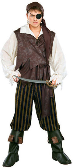 Deluxe Adult Caribbean Pirate Costume