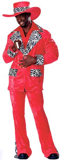 Red Hot Playa Adult Pimp Costume