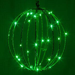 """Green 8"""" LED Halloween Light Sphere"""