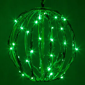"Green 8"" LED Halloween Light Sphere"