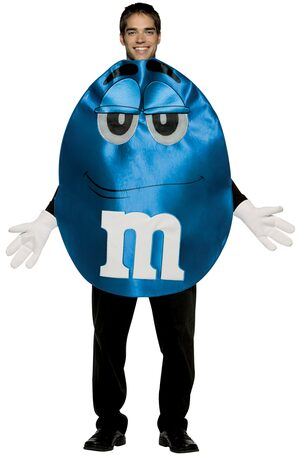 Blue M and M Deluxe Adult Costume