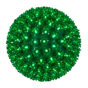 "Green 10"" LED Halloween Light Sphere"