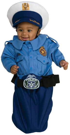 Police Officer Bunting Baby Costume