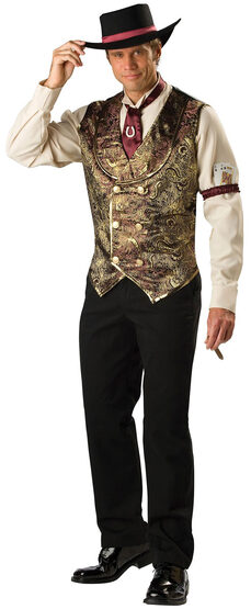 Gamblin Man Adult Western Costume