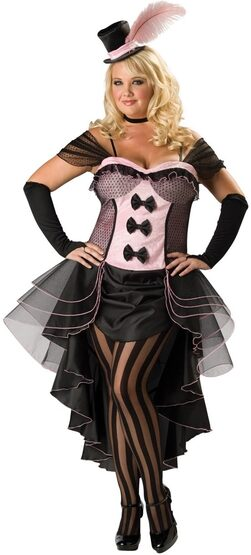Burlesque Babe Plus Size Saloon Girl Costume