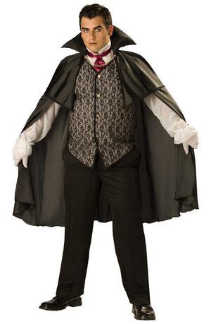 Mens Midnight Vampire Plus Size Costume