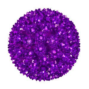 """Purple 7.5"""" LED Halloween Light Sphere"""