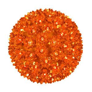"""Amber 7.5"""" LED Halloween Light Sphere"""