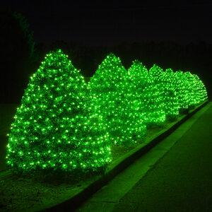 "150 Green Mini Halloween Lights, 6"" Spacing, Green Wire"
