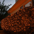 100 4' x 6' Amber LED Net Lights on Green Wire