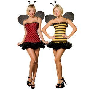 Reversible Sexy Bumblebee Ladybug Costume