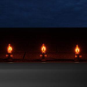 C7 Amber / Orange LED Light Bulbs
