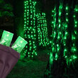 "50 20"" x 45"" Green LED Stretch Net Lights on Brown Wire"