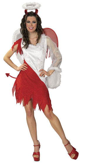 Womens Sexy Heavenly Devil Angel Costume