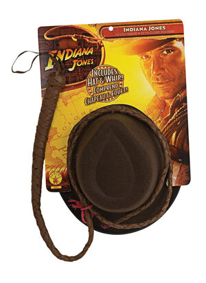 Indiana Jones - Adult Hat & Whip Set