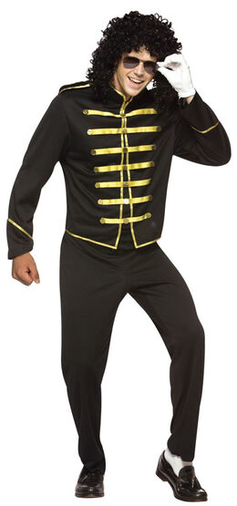 Mens King of Pop Adult 80s Costume