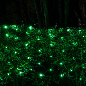 70 4' x 6' Green LED Net Lights on Green Wire