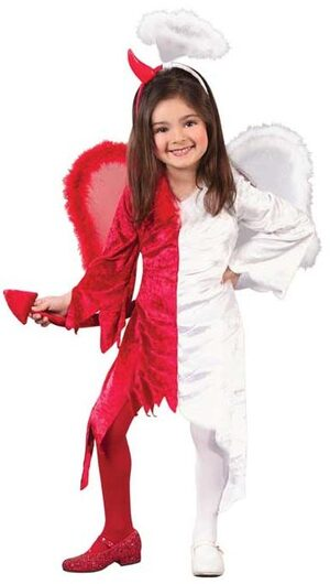 Toddler Kids Naughty and Nice Angel Devil Costume