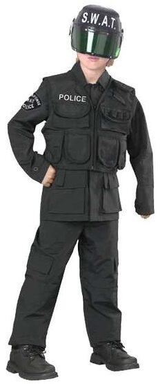 Kids SWAT Team Police Costume